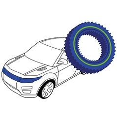 auto gear 2 vector image