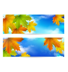 Autumn horizontal banner vector image