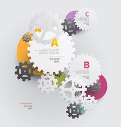 Background of gears vector
