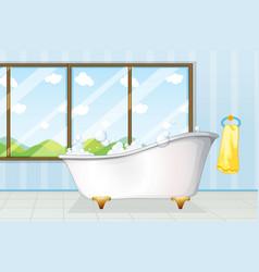 Bathtube in bathroom vector