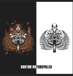 biker custom motorcycles vector image