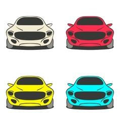 Car set four colors vector