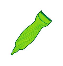 clipper sign lemon scribble vector image