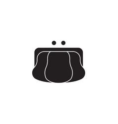 coin purse black concept icon coin purse vector image