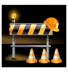 construction in black vector image