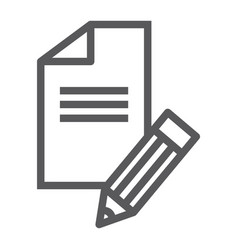 copywriting line icon blog and content writer vector image