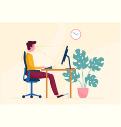 Correct posture or position when working vector