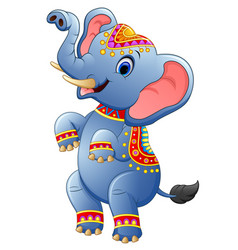 cute elephant cartoon standing vector image