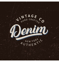 Denim hand written lettering vector image