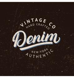 Denim hand written lettering vector