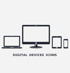 digital device icons smart phone tablet laptop vector image