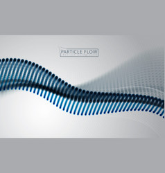 digital wave of flowing particles in motion vector image
