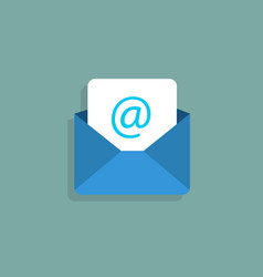 envelope mail icon flat style vector image