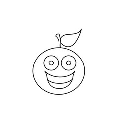 figure kawaii fruit orange happy icon vector image