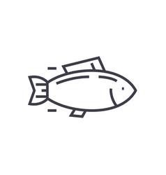 fishtuna line icon sign on vector image