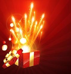 Gift box bursting vector