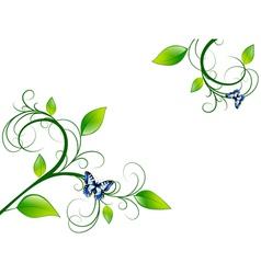 Green Floral Leaf Frame vector image