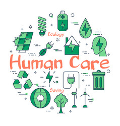 green human care concept vector image