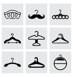 hanger icon set vector image