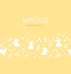 happy easter seamless banner repetitive design vector image