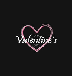 Happy valentines day background holiday black vector
