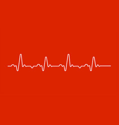 heart beat monitor pulse line art icon for medical vector image