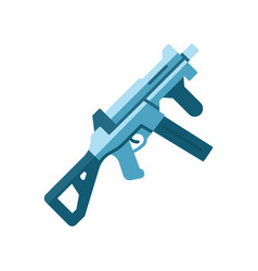 Hk ump weapon flat design long shadow color icon vector