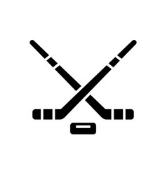 Hockey icon black sign on vector