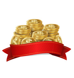 jackpot background golden casino treasure vector image