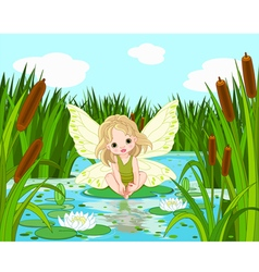 Lake Fairy vector