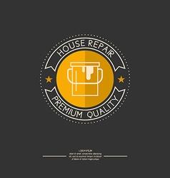 Logo house repair vector