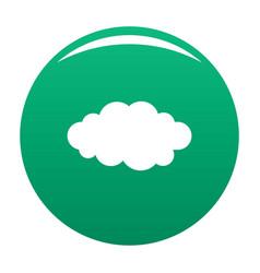 Luminous translucent cloud icon green vector