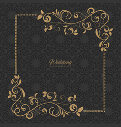 Luxury ornament template vector
