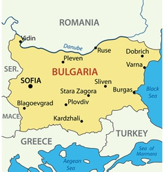 map - Republic of Bulgaria vector image