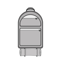 Monochrome backpack camping with sleeping bag vector