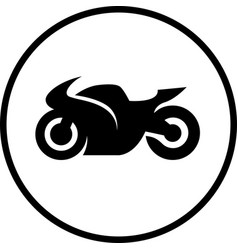 motorcycle bike vector image