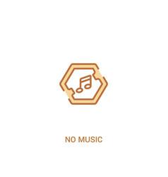 No music concept 2 colored icon simple line vector