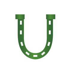 patrick day horseshoe vector image vector image