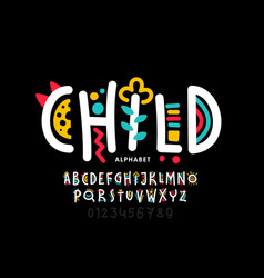 Playful style childish font vector