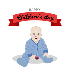 poster design for universal children s day vector image