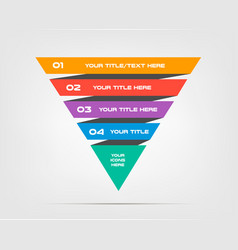 pyramids infographic concept template with vector image