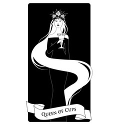 queen cups with crown roses and thorns holding vector image