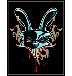Rabbit head vector image