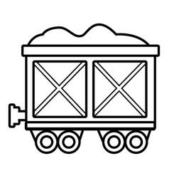 railway wagon icon outline style vector image
