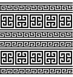Retro greek key pattern seamless design vector
