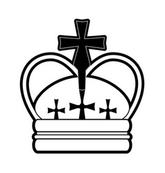 Royal crown with crosses icon image vector
