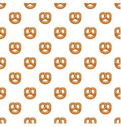 Salt pretzel pattern seamless vector