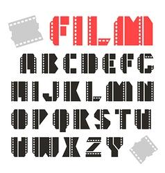 Sans serif decorative font film vector