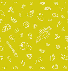seamless pattern with slices of tasty berries vector image