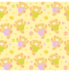 Seamless Teddy Bears vector image